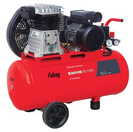 Поршневой компрессор одноступенчатый ременной FUBAG B 3600B/50 CM3
