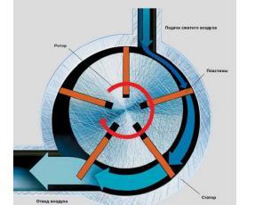 Ротационный пневмодвигатель