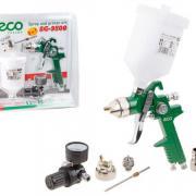 Краскораспылитель ECO SG-9500 с манометром (HVLP, сопло ф 1.4, 1.7 мм, верх. бак 600 мл, блистер) (SG-9500HSTMU)