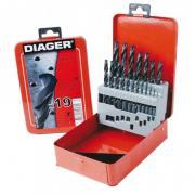 Набор сверл по мет. 1-10мм 19шт HSS Standard (Diager) (775D) (DIAGER)
