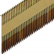 Реечные гвозди 34 градуса 3.05x90 мм ершеные гальванизированные // ТехМаш
