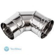Колено дымохода 90° из нержавеющей стали (Ø200 мм) для теплогенераторов Ballu-Biemmedue