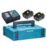 Набор аккумуляторов BL1840B 18В, 4.0 Ач + зарядное устройство DC18RC + кейс MakPac Makita 198310-8
