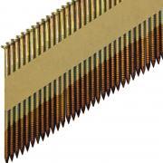 Реечные гвозди 34 градуса 2.87x63 мм ершеные гальванизированные - фото, изображение
