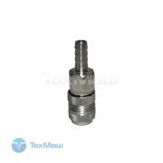 Соединение быстросъем. МАМА х елочка 8 мм (сталь) ECO (AS-F/E08)