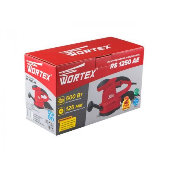 Эксцентриковая шлифмашина WORTEX RS 1250 AE в кор. (500 Вт, 125 мм, 6000--13000 кол/мин, регул. об.) (RS1250AE01311)