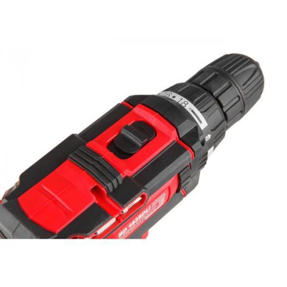 Аккум. дрель-шуруповерт WORTEX BD 1425 DLi в чем. (14.4 В, 2 акк., 1.5 А/ч Li-Ion, 2 скор., 27 Нм, шурупы до 8 мм) (BD1425DLi1606)