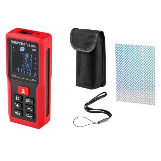 Дальномер лазерный WORTEX LR 8001 в кор. (0.05 - 80 м, +/- 2 мм/м,) (LR8001002723)