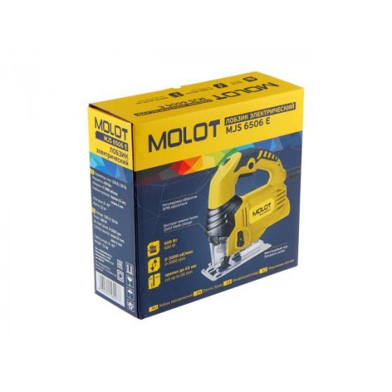 Лобзик электрический MOLOT MJS 6506 E в кор. (600 Вт, пропил до 65 мм) (MJS6506E0019)