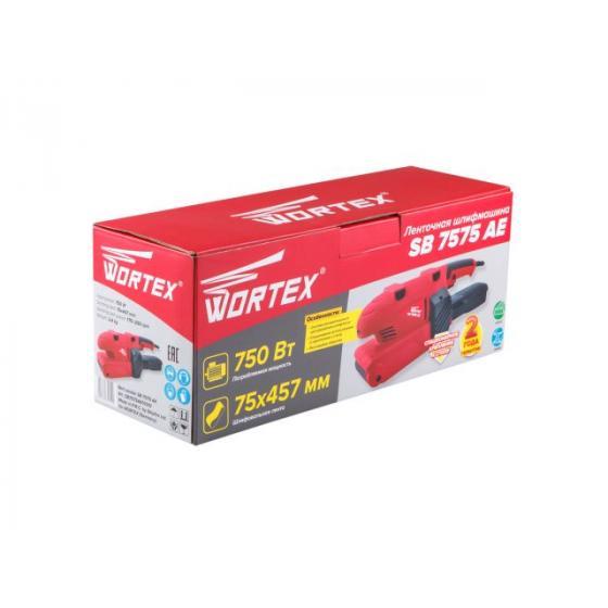 Ленточная шлифмашина WORTEX SB 7575 AE в кор. (750 Вт, лента 75х457 мм, регул. оборотов, авт. центрирование шлифленты) (SB7575AE01310)
