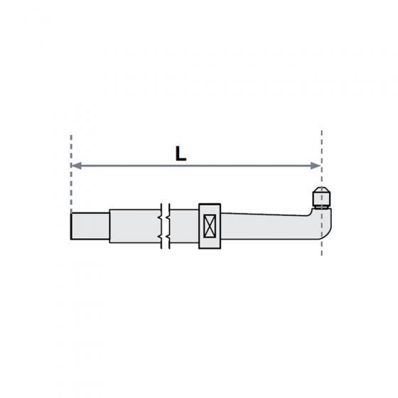 Нижнее плечо прямое O 30 х 600мм для серии SG 8-12-18-25 Fubag [31031]