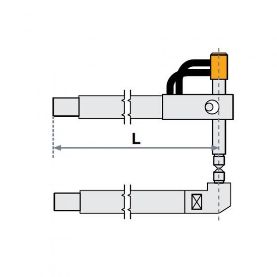 Верхнее плечо прямое O 40 х 800мм для серии SG 36-42 Fubag [31050]