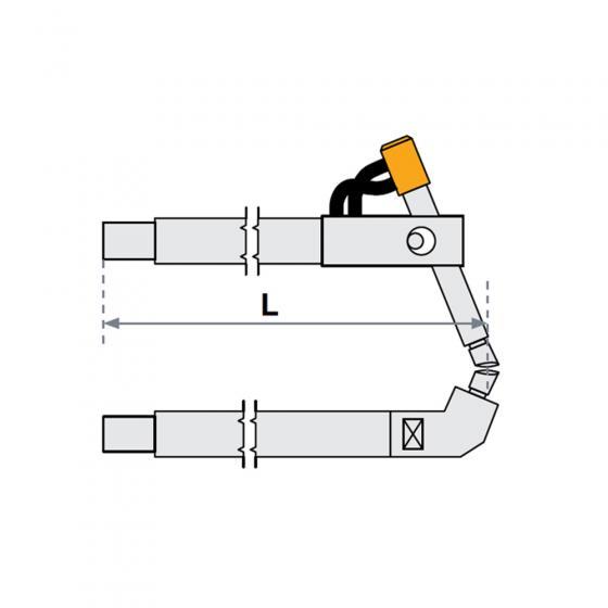 Верхнее плечо наклонное O 40 х 300мм для серии SG 36-42 Fubag [31057]