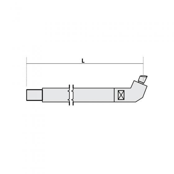 Нижнее плечо наклонное O 22 х 200мм для серии SG 4-6 Fubag [38935]
