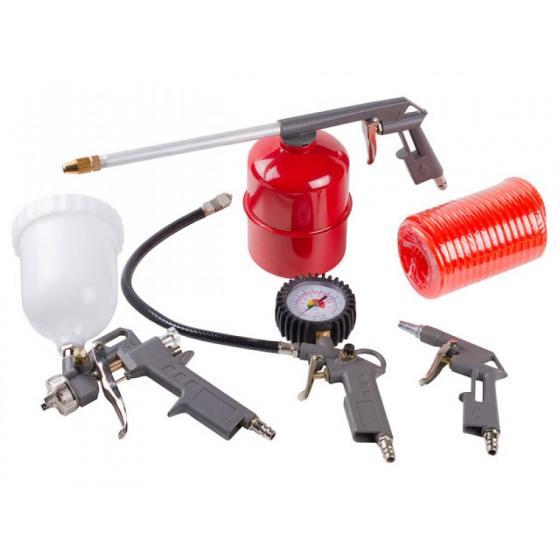Набор пневмоинструмента ECO SGK-5 (5 предметов,верх. бак)