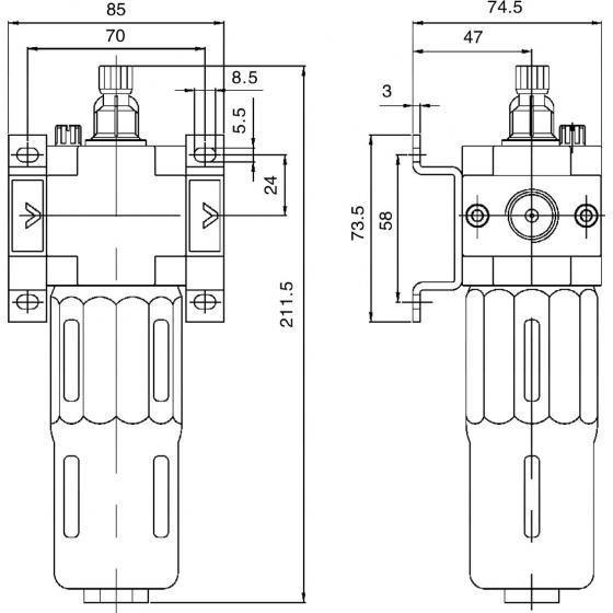 Лубрикатор AMT L-3/4 MIDI (маслораспылитель)