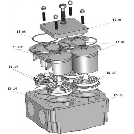 Кольцо клапанное резиновое Bekomsan Esinti 18-102