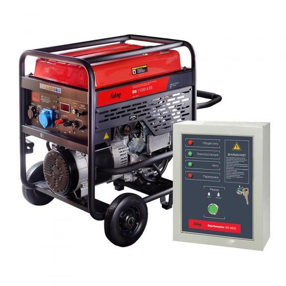 Бензиновый генератор Fubag BS 11000 A ES + Блок автоматики Startmaster BS 6600 [838789.11]
