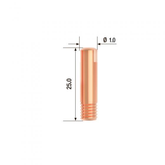 Контактный наконечник Fubag M6х25 мм ECU D=1.0 мм (25 шт.) [FB.CTM6.25-10]