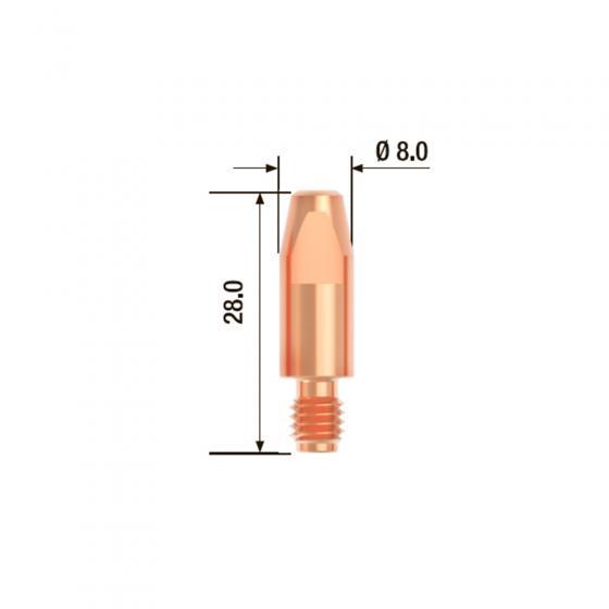 Контактный наконечник Fubag M6х28 мм ECU D=0.9 мм (25 шт.) [FB.CTM6.28-09]