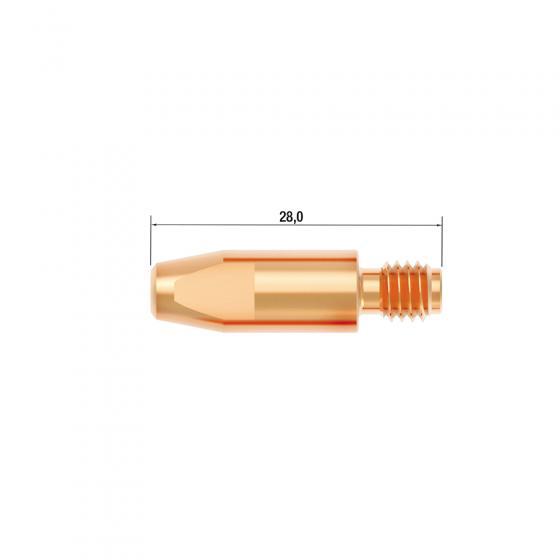 Контактный наконечник Fubag M6х28 мм CuCrZr D=0.9 мм (25 шт.) [FB.CTM6.28-09L]