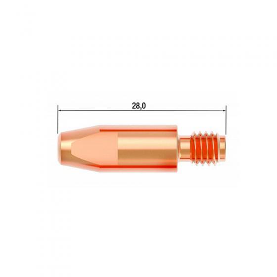 Контактный наконечник Fubag M6х28 мм CuCrZr D=1.0 мм (25 шт.) [FB.CTM6.28-10L]