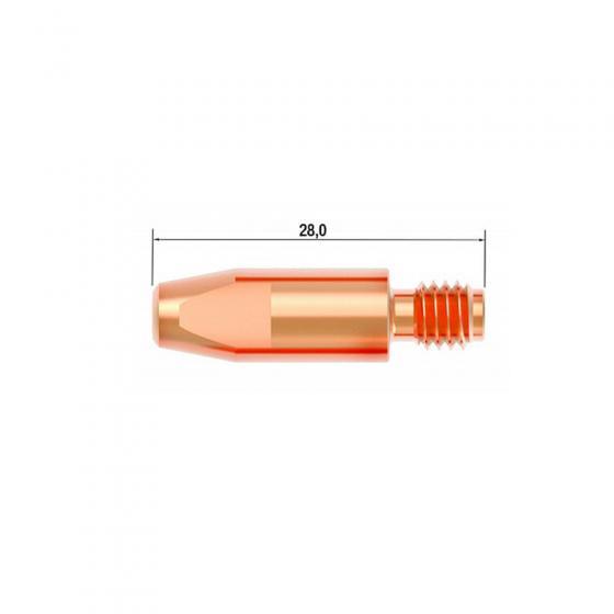 Контактный наконечник Fubag M6х28 мм CuCrZr D=1.2 мм (25 шт.) [FB.CTM6.28-12L]