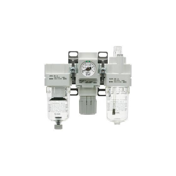 Блок подготовки сжатого воздуха SMC AC G1/4 с ручным сливом [AC40-F02-B]