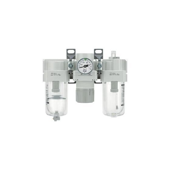 Блок подготовки сжатого воздуха SMC AC G3/8 с ручным сливом [AC40-F03]