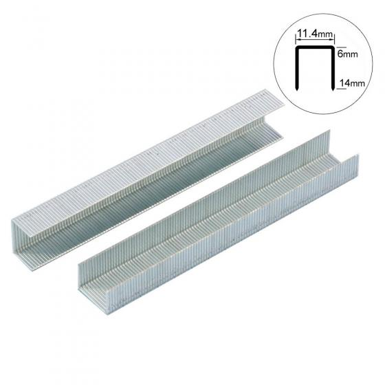 Скоба тип 53-14 мм Gross для мебельного степлера усиленная, 1000 шт