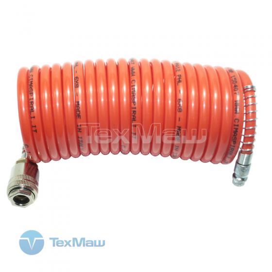 Шланг спиральный с фитингами, 6x8мм, 20м, полиамидный (рилсан) FUBAG [170203]