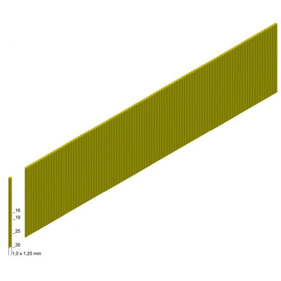 Отделочные гвозди без шляпки 18Ga - 19 мм (шпилька GA-19) / 10000шт